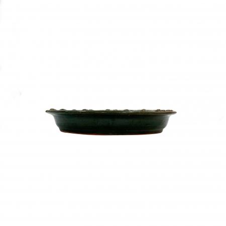 Serviciu de masa pentru 6 persoane din ceramica de Arges realizat manual, Argcoms, 22 bucati/set, Ornament cu bumbi si braduti10