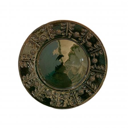 Serviciu de masa pentru 6 persoane din ceramica de Arges realizat manual, Argcoms, 22 bucati/set, Ornament cu bumbi si braduti14