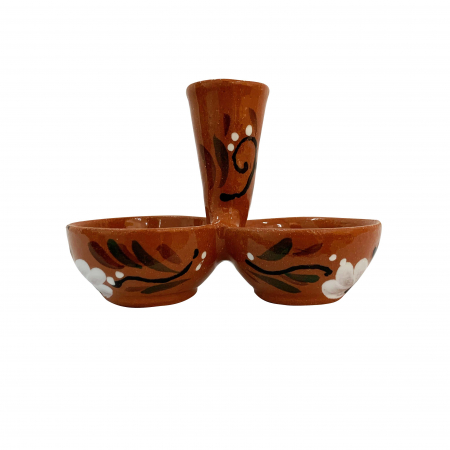 Solnita din ceramica de Arges realizata manual, Argcoms, Pictura florala