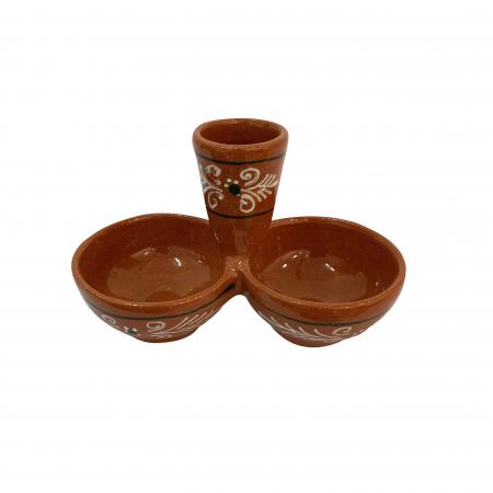 Solnita din ceramica de Arges realizata manual, Argcoms, Pictura traditionala1