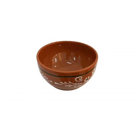 Sosiera din ceramica de Arges realizata manual, Argcoms, Pictura traditionala1