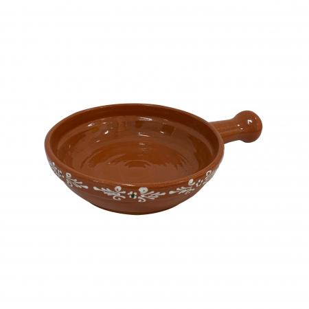 Tigaie din ceramica de Arges realizata manual, Argcoms, Pictura traditionala, Mare0