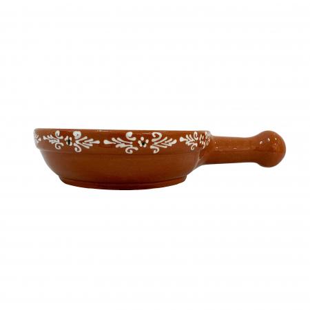 Tigaie din ceramica de Arges realizata manual, Argcoms, Pictura traditionala, Mare1