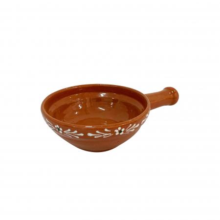 Tigaie din ceramica de Arges realizata manual, Argcoms, Pictura traditionala, Mica0
