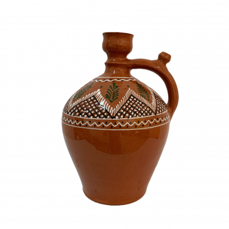 Ulcior din ceramica de Arges realizat manual, Argcoms, Ceremonie, Apa/Vin, Pictura traditionala (1), Mare0