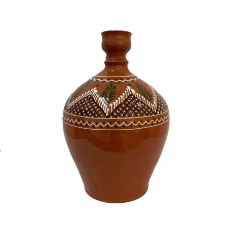 Ulcior din ceramica de Arges realizat manual, Argcoms, Ceremonie, Apa/Vin, Pictura traditionala (1), Mare2