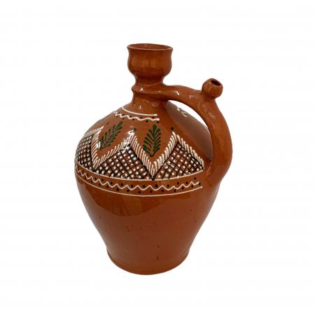 Ulcior din ceramica de Arges realizat manual, Argcoms, Ceremonie, Apa/Vin, Pictura traditionala (1), Mare1
