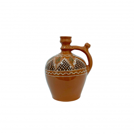 Ulcior din ceramica de Arges realizat manual, Argcoms, Ceremonie, Apa/Vin, Pictura traditionala (1), Mic0