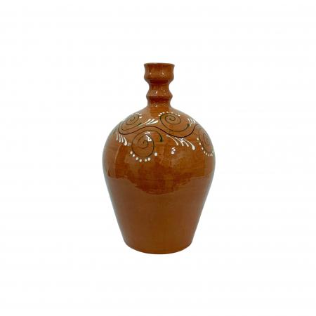 Ulcior din ceramica de Arges realizat manual, Argcoms, Ceremonie, Apa/Vin, Pictura traditionala (2), Mediu2