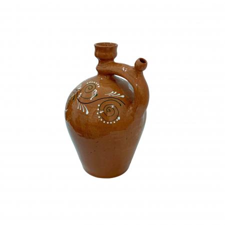 Ulcior din ceramica de Arges realizat manual, Argcoms, Ceremonie, Apa/Vin, Pictura traditionala (2), Mediu1