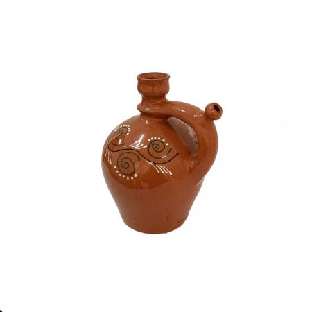 Ulcior din ceramica de Arges realizat manual, Argcoms, Ceremonie, Apa/Vin, Pictura traditionala (2), Mic1