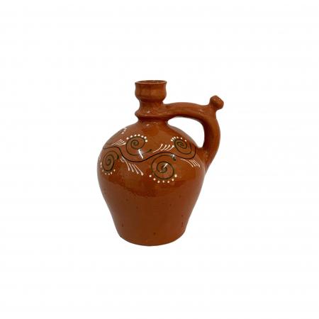 Ulcior din ceramica de Arges realizat manual, Argcoms, Ceremonie, Apa/Vin, Pictura traditionala (2), Mic0