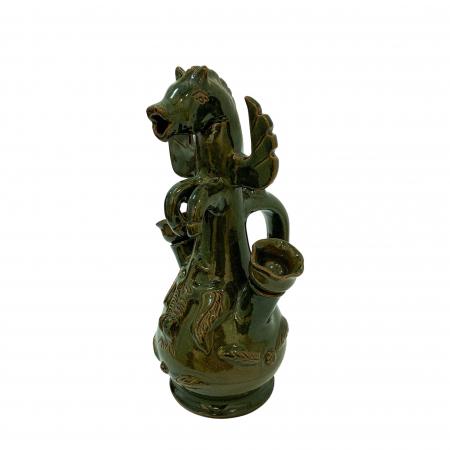 Ulcior din ceramica de Arges realizat manual, Argcoms, Nunta, Cal inaripat, Ornament zooform2