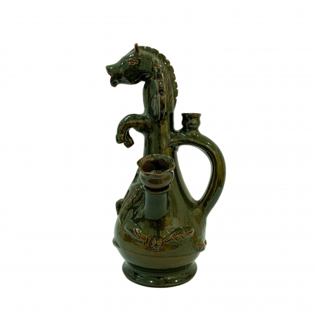 Ulcior din ceramica de Arges realizat manual, Argcoms, Nunta, Cal inaripat, Ornament zooform3