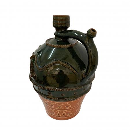 Ulcior din ceramica de Arges realizat manual, Argcoms, Nunta, Ornament zooform, Mare1