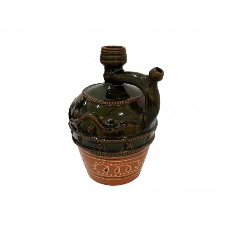 Ulcior din ceramica de Arges realizat manual, Argcoms, Nunta, Ornament zooform, Mediu1