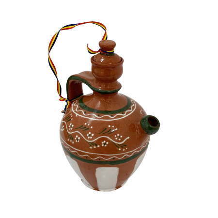 Ulcior din ceramica de Arges realizat manual, Argcoms, Tuica, Pictura traditionala, Mare2
