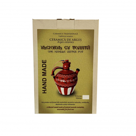Ulcior din ceramica de Arges realizat manual, Argcoms, Tuica, Pictura traditionala, Mare3