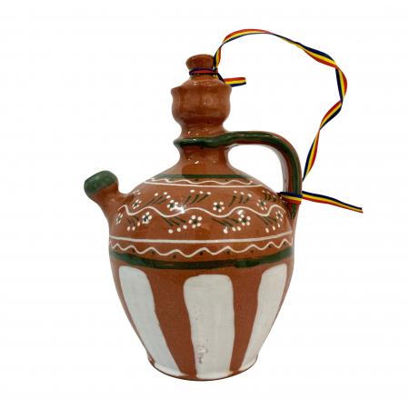 Ulcior din ceramica de Arges realizat manual, Argcoms, Tuica, Pictura traditionala, Mare0