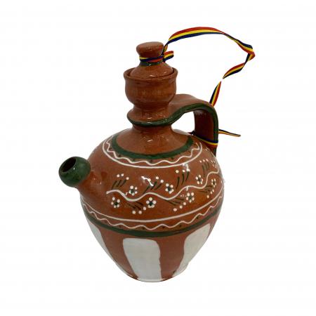 Ulcior din ceramica de Arges realizat manual, Argcoms, Tuica, Pictura traditionala, Mare1