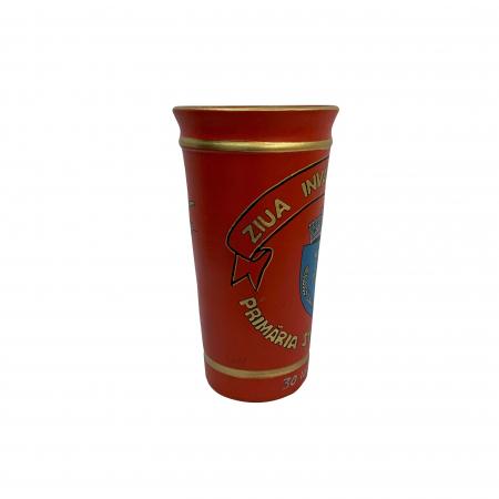 Vaza din ceramica de Arges realizata manual, Argcoms, Personalizabila, H251