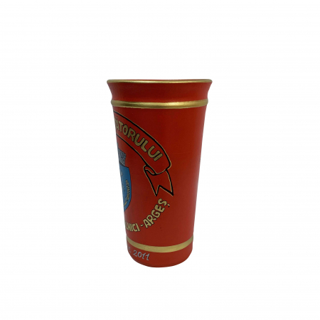 Vaza din ceramica de Arges realizata manual, Argcoms, Personalizabila, H252