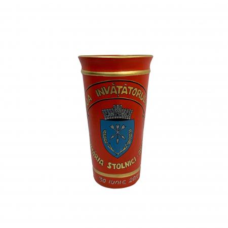 Vaza din ceramica de Arges realizata manual, Argcoms, Personalizabila, H250