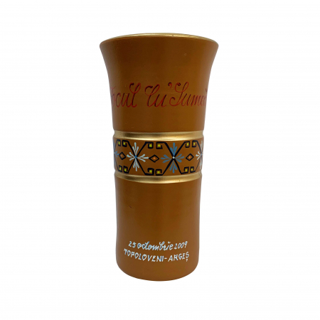 Vaza din ceramica de Arges realizata manual, Argcoms, Personalizabila, H350