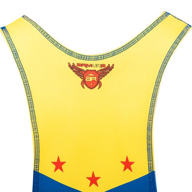 Dres de lupte ARMURA Tricolor V2 Albastru [5]