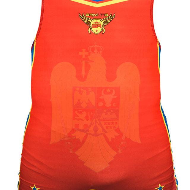 Dres de lupte ARMURA Tricolor V2 Rosu [2]