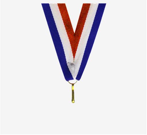 Snur Medalie Rosu/Alb/Albastru [0]