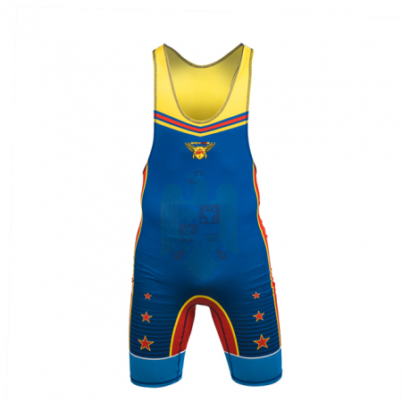 Dres de lupte ARMURA Tricolor V2 Albastru [0]