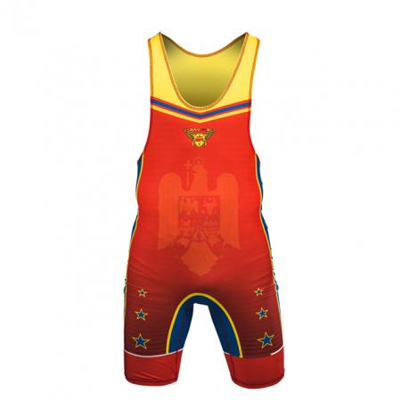 Dres de lupte ARMURA Tricolor V2 Rosu [0]