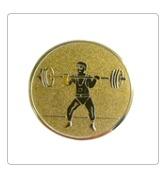 Emblema medalie haltere 25mm/50mm