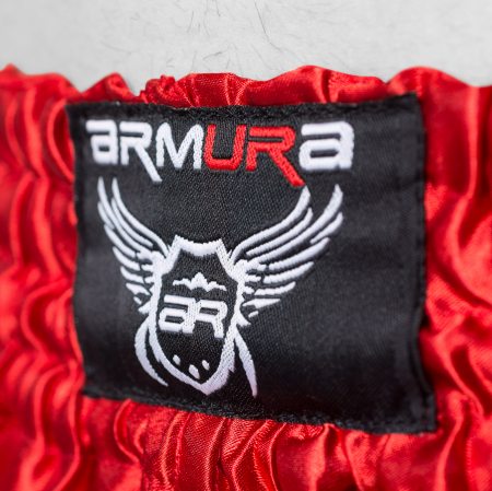 Short ARMURA Muay Rosu/Negru [1]