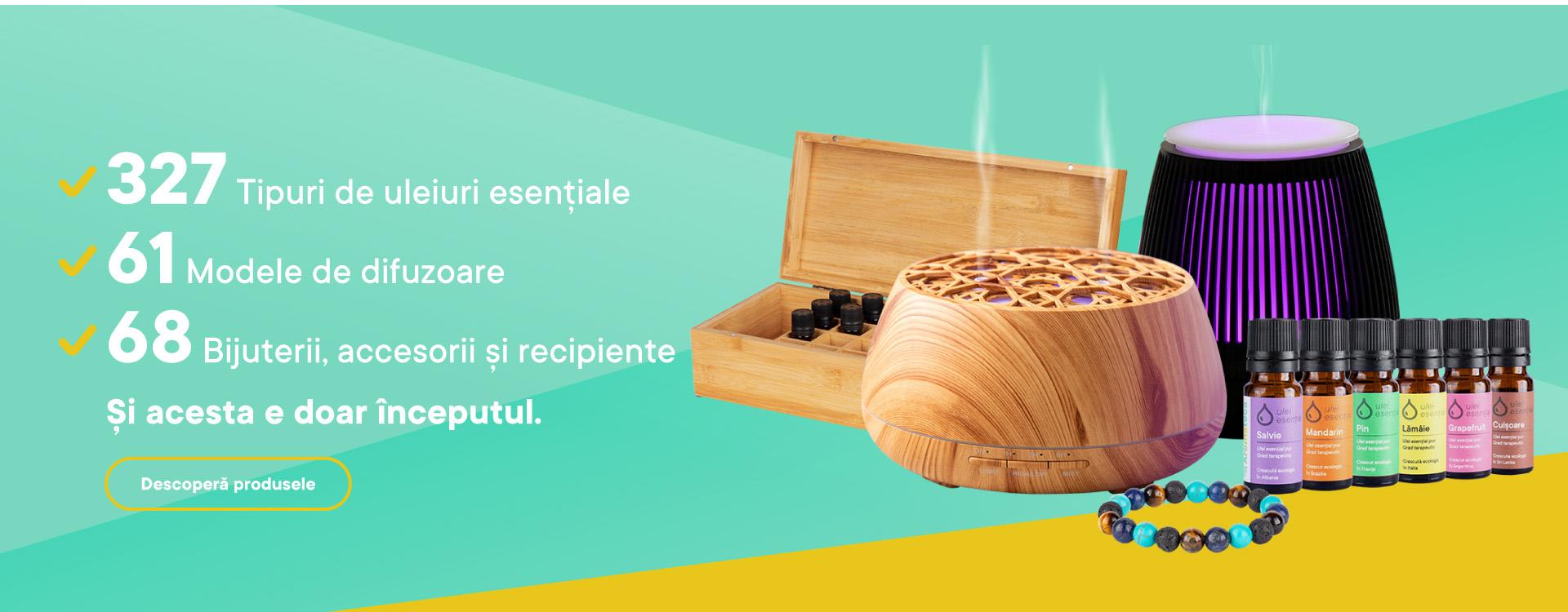 Cea mai variata gama de produse pentru aromaterapie