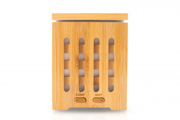 Difuzor de aromaterapie din bambus - Cube 0