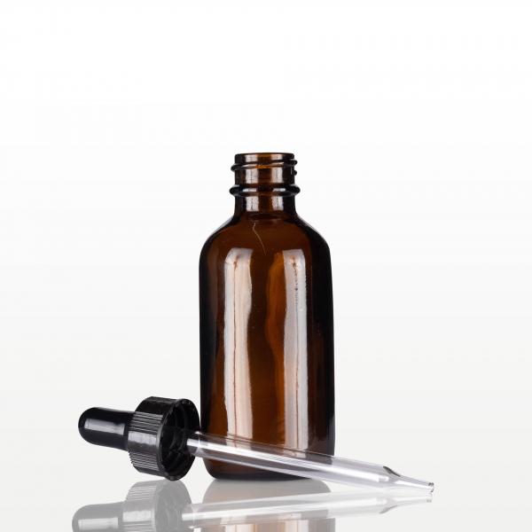 Flacon sticla ambra cu pipeta neagra - 60 ml 1