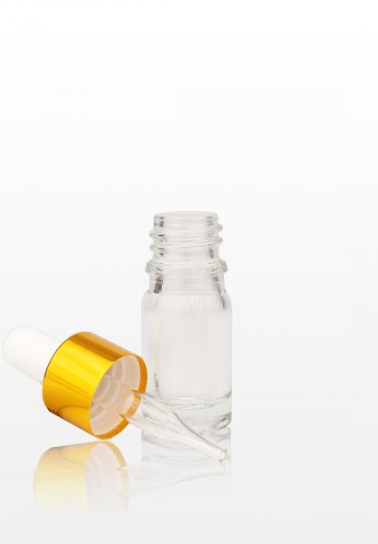 Flacon sticla cu pipeta aurie - 5 ml 1