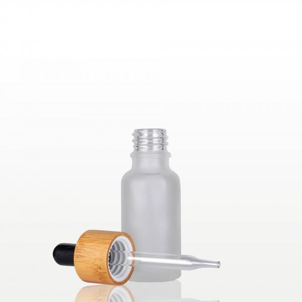 Flacon sticla mat cu pipeta bambus - 20 ml 1