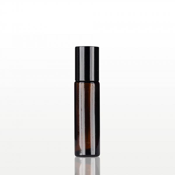Roll-on sticla ambra cu capac negru - 10 ml 0