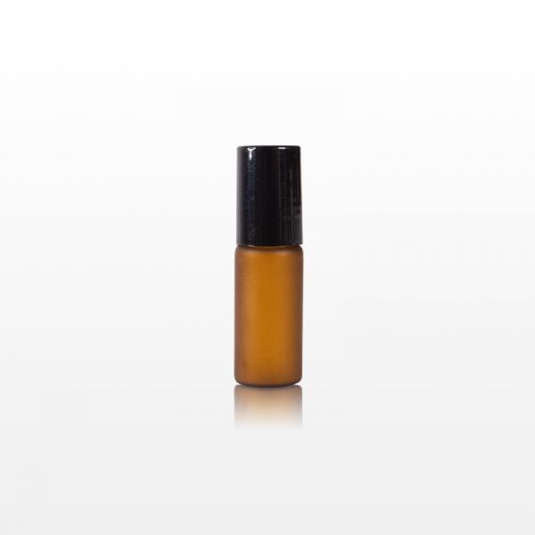 Roll-on sticla ambra cu capac negru - 5 ml 0