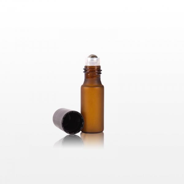 Roll-on sticla ambra cu capac negru - 5 ml 1