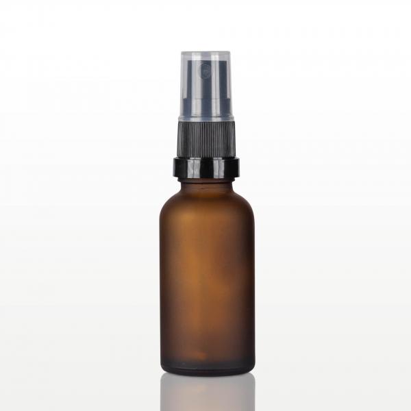 Spray flacon sticla ambra mat, capac negru - 30 ml 0