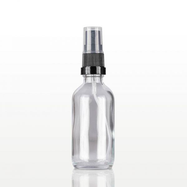 Spray flacon sticla cu capac negru - 60 ml 0