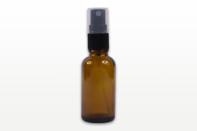 Spray flacon sticla ambra, capac negru - 30 ml - Greenair