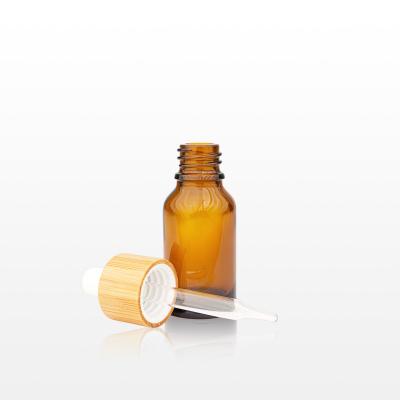 Flacon sticla ambra cu pipeta bambus 15 ml [1]