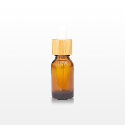 Flacon sticla ambra cu pipeta bambus 15 ml [0]