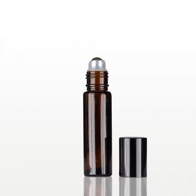 Roll-on sticla ambra cu capac negru - 10 ml1