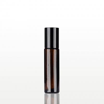 Roll-on sticla ambra cu capac negru - 10 ml0